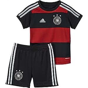 adidas Kinder Trainingsshirt DFB Babykit Away WM, Schwarz / Rot, 68, D84504