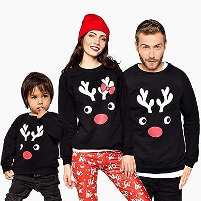 Blaward Ciervos de vacaciones de Navidad a juego con la familia Sudaderas Conjuntos de suéteres para mamá Papá Niños Regalos de Navidad Sudaderas de manga larga