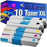 PlatinumSerie® Set 10 Toner XXL für Oki C310 Black Cyan Magenta Yellow C510DN C511DN C530DN C531DN kompatibel zu Oki 44469803 44469706 44469705 44469704