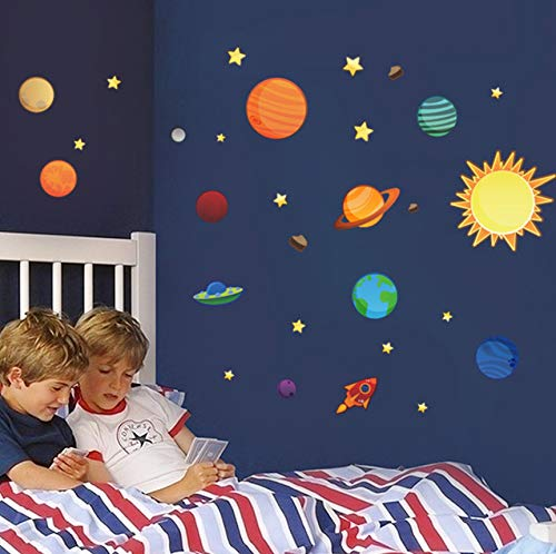 Wandaufkleber DIY Karton Stern Galaxy Kinder Kinderzimmer Schlafzimmer Wand Dekorative 50 * 170 cm 1 pic/set