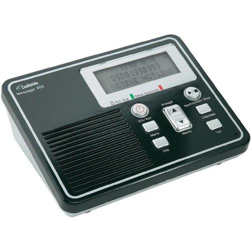 DeTeWe Message 400 - Digitaler Anrufbeantworter mit bis zu 50 Minuten Aufzeichungskapazität inkl. Fernabfragemöglichkeit