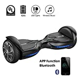 EVERCROSS Hoverboard Diablo 6,5' Smart Skateboard Électrique Bluetooth Scooter Certifié CE de Boutique GyroGeek (Noir)