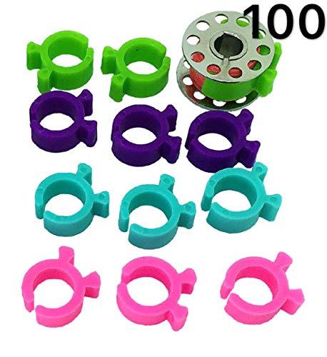 PeavyTailor Spulenhalter, 100 Stück, Spulenhalter für Stickerei, Nähmaschine, Spulenspanner