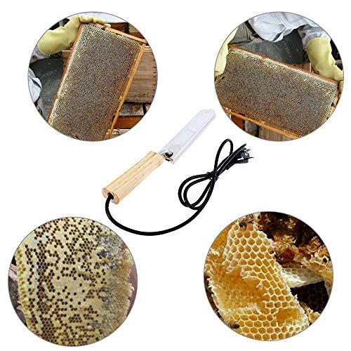 LAIZETONGXUN Bee Elektromesser für die Imkerei Elektrische Honigschneidvorrichtung Honigschaberwerkzeuge für Imker, UK-Stecker