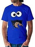 Shirtracer Damen & Herren T-Shirt Keks-Monster (M, Royalblau)