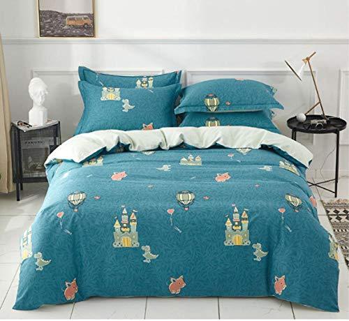 zlzty Gebürstete Baumwolle Doppel Spannbetttuch, Baumwolle Kinder Cartoon Sternenhimmel leuchtende Bettwäsche, einzelne Bettbezug, King Size Bettbezug@C_1.5m Bett (DREI Stück)