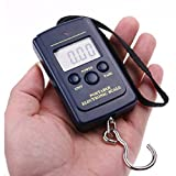 Boolavard® TM Hanging Luggage Electronic Portable Digital Scale lb oz Weight scale 40kg x 20g (includes 2xAAA