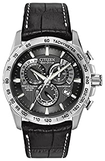 Citizen Men's Eco-Drive Chronograph Watch with a Black Dial and a Black Leather Strap AT4000-02E (B005XT69EY) | Amazon price tracker / tracking, Amazon price history charts, Amazon price watches, Amazon price drop alerts