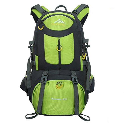 50L Wandern Rucksack Outdoor Sport Tasche Wasserdicht für Trekking Camping Reisen Klettern Bergsteigen LAHONE Grün