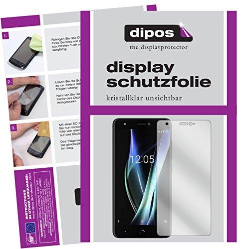 dipos I 2X Schutzfolie klar passend für BQ Aquaris X Folie Bildschirmschutzfolie
