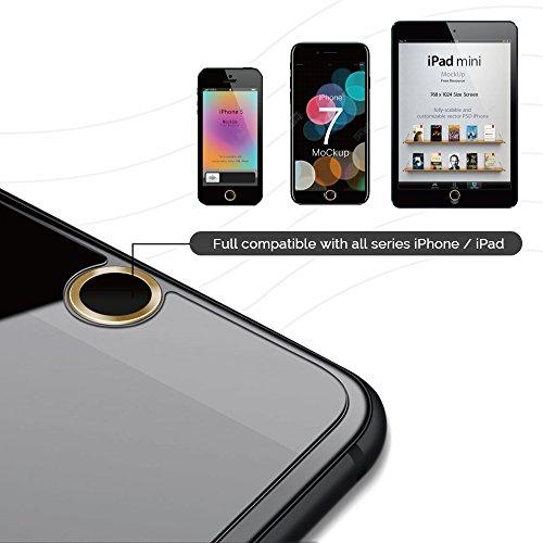 Doutop iPhone touch ID della casa dellautoadesivo del tasto dito anello di supporto 3D touch compatibile e di impronte digitali Sistema Indentification per iPhone 7 iphone iphone 6 6 pi