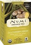 Numi Organic Tea Ginger Sun, Full Leaf Lemon Decaf Green Tea, 16 Count Tea Bags (Pack of 3)