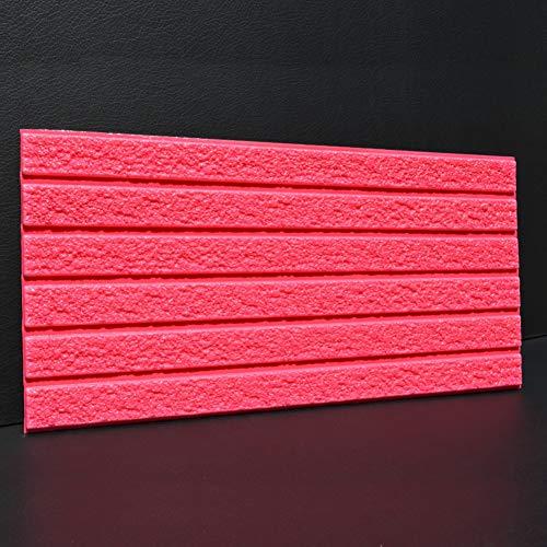 HX stickers 5 pièces Auto-adhésif 3D Brique texturé Autocollants, Mousse PE Tuile de Mur Panneaux muraux Toile de Fond Décoration de Mur-Rouge