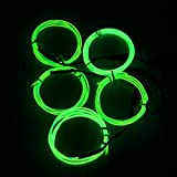 El Wire Green Kit, Ticoze Neon Lights EL Wire 4 Modes Battery Operated for Party Indoor Outdoor Decoration, 5 by 1-Meter (Green)