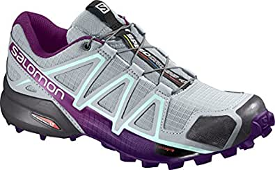 Salomon Speedcross 4W Quarry/Acai/Fair, Scarpe da Escursionismo Donna, Quarry/Acai/Fair Aqua, 36 EU