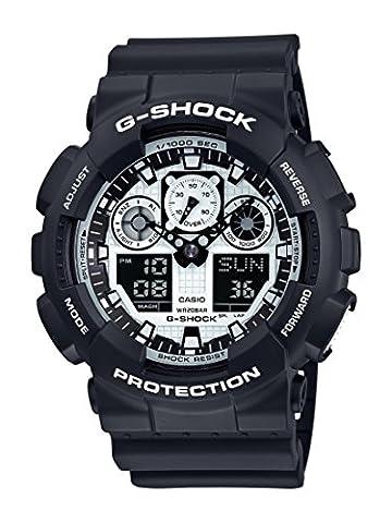 Casio G-Shock – Montre Homme Analogique/Digital avec Bracelet en Résine – GA-100BW-1AER