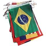 TOOGOO (R) Brasilien WM Stoff Bunting - Alle 32 Flaggen 9