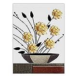 Knncch Dekoration Wand Leinwand Kunst Schlafzimmer Dekor Gemälde Öl Zeichnungen Für Wohnzimmer Blumenstrauß In Einer Vase,30X40Cm