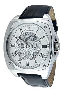 Continuum Hombre Reloj de pulsera esquelético XL Movimiento automático Display analógico Correa de cuero negro y Diamante - CT120108 de Continuum