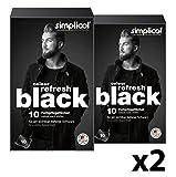 simplicol Color Refresh Black Farbpflegetücher 10 Stück, Schwarz (2er Pack): Tücher zum Auffrischen ausgeblichener Wäsche gegen Vergrauen Ihrer Kleidung - sichtbar tiefes Schwarz für Pullover, Hosen, Wäsche, rückstandsfrei in der Maschine