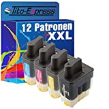 PlatinumSerie® 12x Tinten-Patrone XXL kompatibel für Brother LC900 DCP-120C MFC-1195B MFC-210C MFC-215C MFC-3240