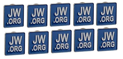 Fengteng 10 Piezas Jw org Broche Hombres De Solapa Pin Para Joyería  Ornamentos