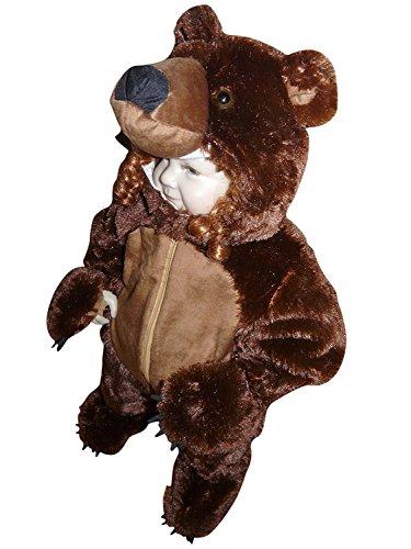 Braunbär-Kostüm, F67/00 Gr. 92-98, für Klein-Kinder und Babies, Bären-Kostüme Fasching Karneval Fasnacht, Karnevalskostüme, Kinder-Faschingskostüme, Geburtstags-Geschenk - Kleines Baby Teddy Bär Kostüm
