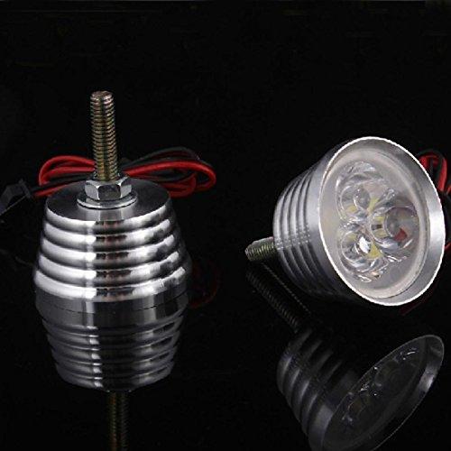 dfx1991 Motorrad Refit LED Kennzeichenbeleuchtung blinkt Strom, Blue&Red YC-669