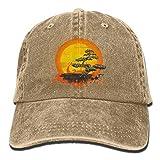 Bixungan Bonsai Tree Female Baseball Cap Plain Adjustable Denim Jean Hat