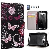 TIODIO® Brieftasche Book Style Schutzhülle für Huawei