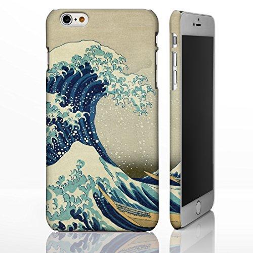 Coque pour téléphones iPhone Motif œuvre de peintre célèbre Collection art Hokusai Protection artistique intégrale, plastique, The Great Wave off Kanagawa - Portrait, iPhone 6 / 6S