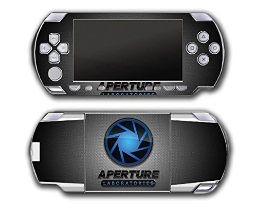 Portal 1 2 Gun Chell Gladdos Wheatley Aperture Laboratories Video Game Vinyl Decal Skin Sticker Cover for Sony PSP Playstation Portable Original Fat 1000 Series System by Vinyl Skin Designs