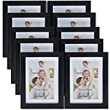 Giftgarden 6x4 Multi Collage Picture Photo Frames Wall Decor 6 x 4 10PCS Pack, PVC lens