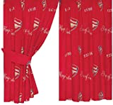 Character World Arsenal Crest Curtains, 72 Inch