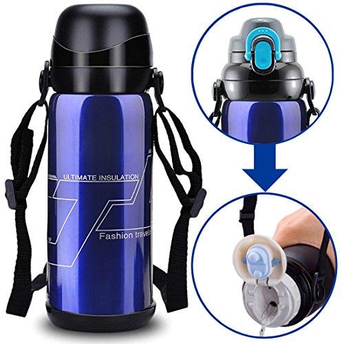 Edelstahl Wasser Flasche Vakuum Isoliert doppelwandig Hitze kalt Retention Gym Outdoor Sport Wandern Radfahren Camping Klettern Reisen Tassen
