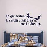 IR a Dormir Cuento con Cuernos, no Oveja–Habitación de los Niños Pared Adhesivo Niños Dormitorio Pared Vinilo Adhesivo Arte Presupuesto