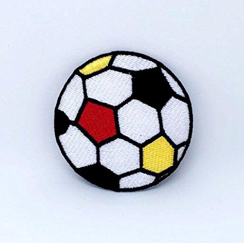 Fußball bunt Ball Fußball Eisen auf Sew auf bestickt Patch -