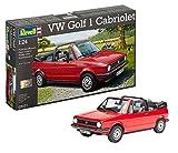Revell Modellbausatz Auto 1:24 - Volkswagen VW Golf 1 Cabriolet im Maßstab 1:24, Level 4, originalgetreue Nachbildung mit vielen Details, 07071