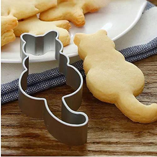 Cat geformte Aluminium-Form Sugarcraft Kuchen-Plätzchen-Gebäck-Backen-Scherblock-Form Ausstecher Katze