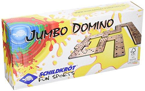 Jumbo Domino, 28 Piezas de Dominó en Gran Formato, en Madera Certificada FSC, con Estampado Negro
