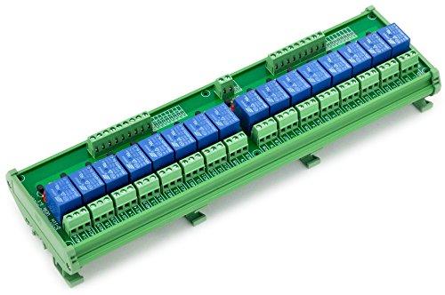 Electronics-Salon Rail DIN/support de relais de puissance 16 SPDT Interface Module relais, 48 V, 10A bobine.