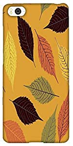 Snoogg seamless pattern with leaf Hard Back Case Cover Shield For Xiaomi Mi4i / Mi4I