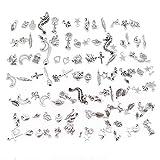 JuanYa 100 Stücke Antik Vintage Bronze Skeleton Handgemachte Schlüsselzubehör DIY Halskette Anhänger für Schmuckherstellung