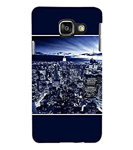 For Samsung Galaxy A7 (6) 2016 :: Samsung Galaxy A7 2016 Duos :: Samsung Galaxy A7 2016 A710F A710M A710Fd A7100 A710Y :: Samsung Galaxy A7 A710 2016 Edition beautiful city, beautiful building, nice city, city in night Designer Printed High Quality Smooth Matte Protective Mobile Case Back Pouch Cover by APEX