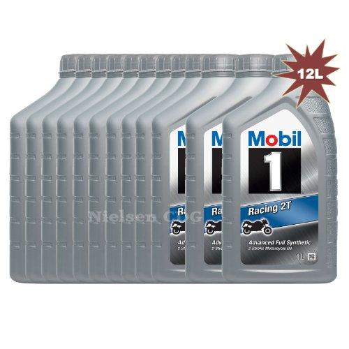 Mobil 1Racing 2T Advanced Entièrement synthétique 2temps Moto Huile–12litre pas cher