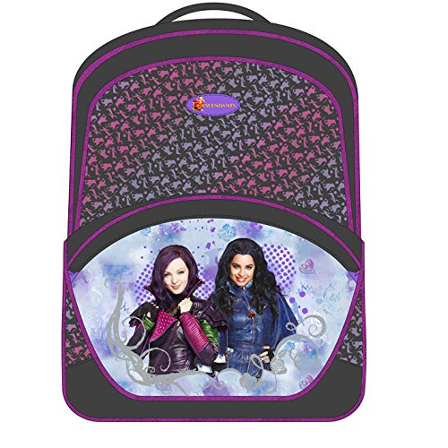 Disney-Cartera-descendientes-3-cremalleras-Disney-descendientes-color-morado