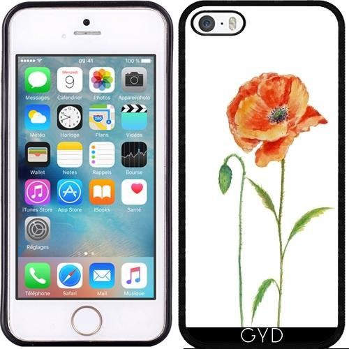 Custodia in silicone per Iphone 7 / Iphone 8 - Acquerello Poppies- by UtArt Silicone