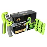 #7: Hale Hand Grip Strengthener Bundle Pack|Extreme Forearm Strength(Adjustable &Non-Slip 22-88lbs)|Finger Coordination and Strength Trainer Included |for Gym,Instrument Players,Adventure Sports
