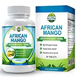 Estratto di mango africano per perdere peso, brucia grassi che controlla i livelli di leptina per dimagrire velocemente, 6000 mg di estratto, pillole dimagranti che inibiscono l'appetito, 90 compresse