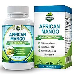Afrikanische Mango Extrakt zum Abnehmen, Diät, Stoffwechselkur, Appetitzügler, Fettverbrenner mit Leptin, 90 Tabletten von Nutra Rise